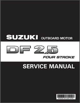 Suzuki DF2.5 Outboard Motor Service Repair , Owner's & Parts Manual CD -- DF 2.5