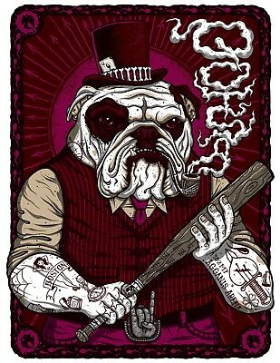 Queens of the Stone Age Poster Boston MA 10/21/2017 QOTSA Villains Print Bulldog