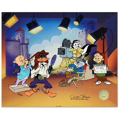 Chuck Jones Mark of Zero Sold Out Sericel  Hand Painted Color COA Signed