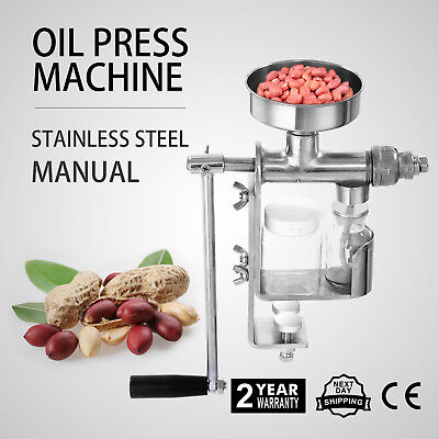 Manual Oil Press Machine Oil Extractor Homehold Hand Press Stainless Steel