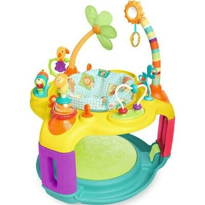 Baby Activity Station Center Exerciser Bounce Plays Learn Fun Sounds Music Toys