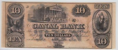 CU 1840's-1850's $10 New Orleans Canal Note (Gallier Hall)...99 cents...NR!
