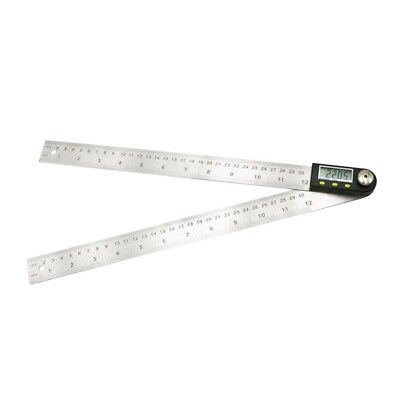 New SHAHE 300mm 12'' Digital Protractor Inclinometer Stainless Steel Angle Rule