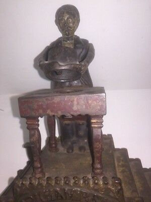 J.&E.Stevens 1875/1901 Patent Magician Mechanical Bank Old Vtg Antique Original