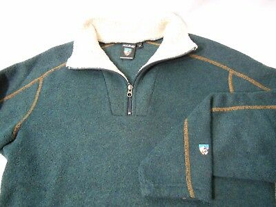 KUHL Alfpaca 1/4 Zip Fleece Pullover Sweater Jacket Men's Medium M