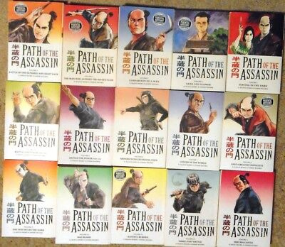 Path Of The Assassin; complete set vols 1-15  Kazuo Koike of Lone Wolf and Cub