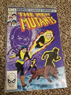 The New Mutants #1 (1983) comic book. Excellent condition