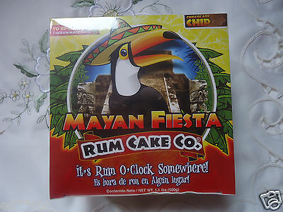 MAYAN FIESTA CHOCOLATE CHIP Rum Cake 16-Ounce  Made in Cozumel Free Shipping