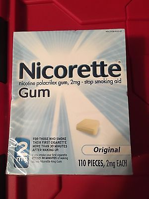 Nicorette Gum 2MG Original Flavor 110 Pieces New Help Stop Smoking NIB