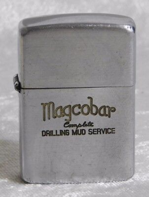 Vtg 1940s Magcobar Drilling Mud Service Oil Zippo Lighter