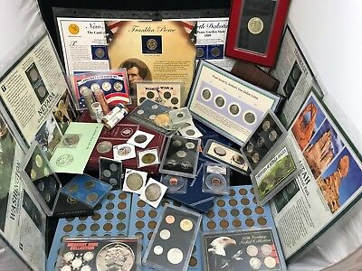 Xxl Coin Lot~Morgan-Ike-Peace-Sets-Silver-Wheats Buff-Medals-Tokens-Foreign