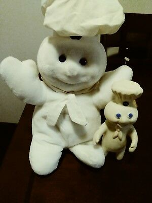 Pillsbury Doughboy Giggling Talking Plush Stuffed AND VINYL DOLLS VINTAGE