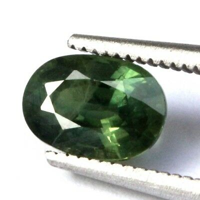 1.85 Ct Natural Green Sapphire Gems Si Oval Shape 1Pc. 5.5X8.0X4.9Mm. Pg106