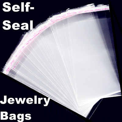 200 Clear Resealable Recloseable Plastic Self Adhesive Cello Lip and Tape bags