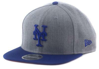 New York Mets New Era MLB Team 9Fifty Hat Snapback Baseball Cap In Heather Grey