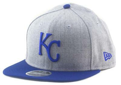 Kansas City Royals New Era MLB Team 9Fifty Hat Snapback Cap In Heather Grey
