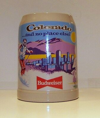1991 Anheuser-Busch Budweiser Special Events Colorado  Stein - Limited Ed.