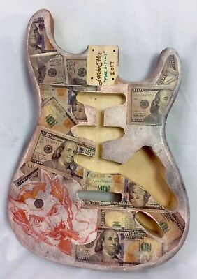 CUSTOM PAINTED Licensed Fender Strat Stratocaster Ash USA Body (All Parts)