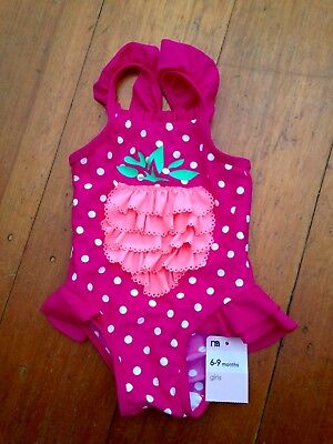 Baby Girls Swimming Costume 6-9 Months Sz 0 Mothercare UK BNWT
