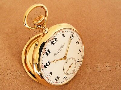 IWC 14K Solid Yellow Gold International Watch Co antique Pocket Watch from 1912