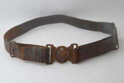 WW2 IJA Vintage Japanese Army Officer's Leather Belt #a6650