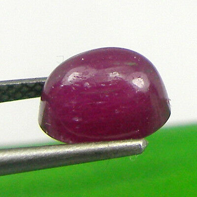 2.83 carat 8.1x5.7mm Oval Cabochon Natural Ruby Loose Precious Gemstone - RCb02