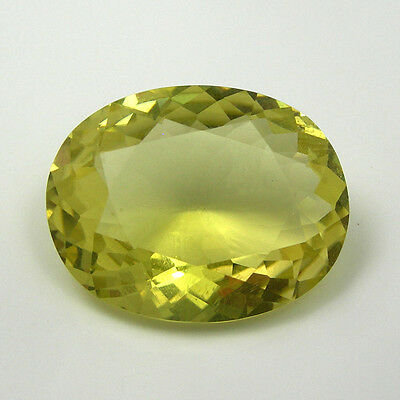 25.29 carat Large Oval 23x18mm Yellow Natural Citrine Gemstone Flawless Clarity