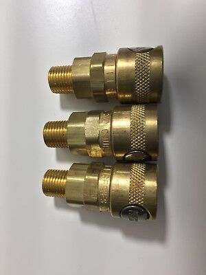 3x Quick Release Brass Pneumatic Fitting