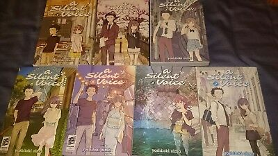 A Silent Voice Vol. 1-7 Complete English Manga Lot Anime