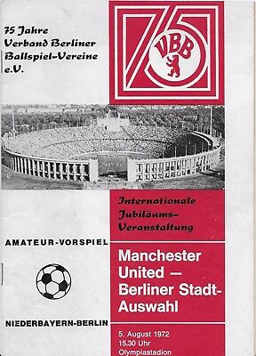 Berlin V Manchester United Friendly 1972