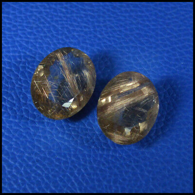 RUTILATED QUARTZ 40.79Cta SHIMMERING NATURAL RARE COPPER OVAL 2Pcs CUT 114-12
