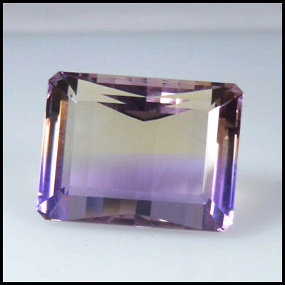 53.15Cts NATURAL BEAUTY CHARMING BI-COLOR AMETRINE OCTAGON CUT GEMSTONE 114-15