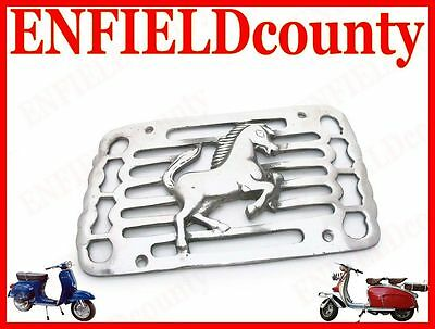 Brand New Vespa Alloy Made Side Panel Grill Running Horse Chrome Finish @aus