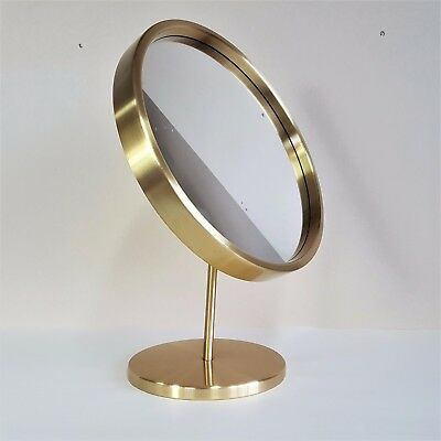 A Glasmäster Brushed Brass Mirror From Markaryd 1960's