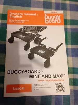 lascal buggy board maxi And Mini Manual ONLY.