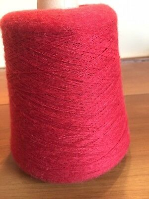 Cone Of Red Yarn 805% Wool 205% Acrylic 2 Ply 540 Grs