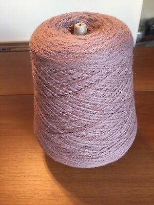 Lovely Grey/brown Acrylic Mix Yarn On Cone 390 Grs 4 Ply