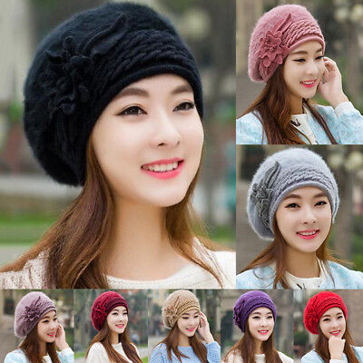 Fashion Women Ladies Warm Winter Baggy Beanie Knit Crochet Hat Slouch Ski Cap BG