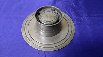 Antique Pewter Capstan Inkwell