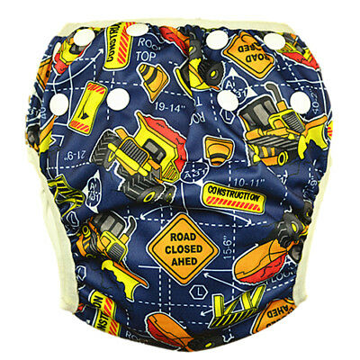 Washable Swim Nappy Baby Boys Toddlers Cover Diaper Pant Nappies Swimmer (S28)