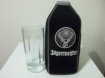 Jagermeister giant shot glass & Stay cool pack stag logo insulated koozie coozie