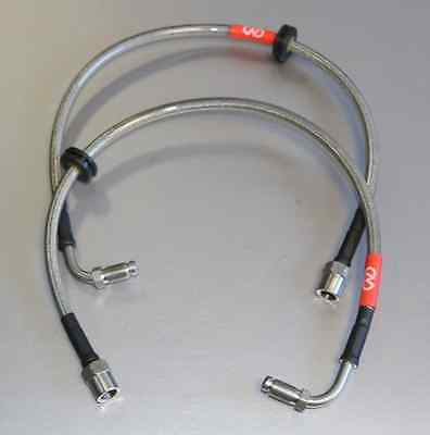 Cms Audi A4 To Porsche Fitting Custom Front Braided Brake Lines  Bl19
