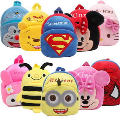 Kids Toddler Girls Boys Cute Cartoon Backpack Kindergarten Schoolbag Plush Gift