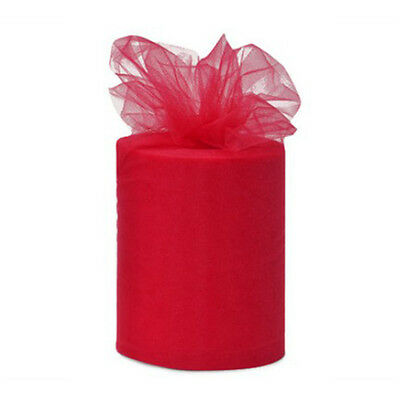5Yard Red Decorations Tulle Roll Spool Tutu Wedding Party Gift Fabric Craft