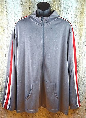VTG Vision Track Jacket Jogger Warm-up Gray Red White Street wear Size XL D05