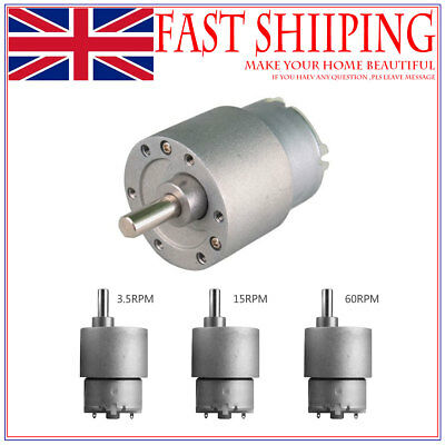 12V DC 60 RPM 37MM 30 N*cm High Torque Gear Box Electric Motor