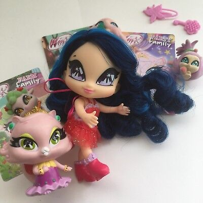 Winx Club Pop Pixie CHÉRIE Doll And HER Pet + Flocked Pets RARE EUROPEAN TOYS