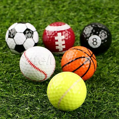 Outdoor Training 6 Assorted Great Golf Balls Gift Sports Fans 42.7MM Funny Play