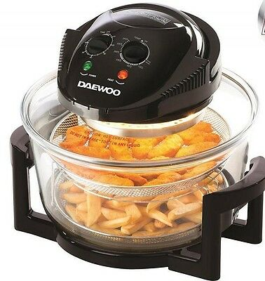 Daewoo 2 in 1 Glass Air Fryer Fat Free Frying Healthy No Oil Cooker rrp £129.99