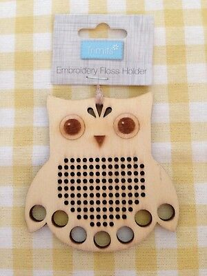 TRIMITS Wooden Embroidery Floss Holder - Owl